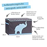 Store It 670384 Spielzeugtruhe, blauem, Polyester, Elefant - grau/hellblau, 62 x 37,5 x 39 cm - 2