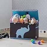 Store It 670384 Spielzeugtruhe, blauem, Polyester, Elefant - grau/hellblau, 62 x 37,5 x 39 cm - 3