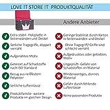Store It 670407 Spielzeugtruhe, Polyester, Krone - grau/weiß/pink, 62 x 37,5 x 39 cm - 4