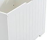 CLP Truhe Lafia mit Stauraum I Sitzbank aus MDF I Zeitlos Truhenbank, Farbe:weiß - 7