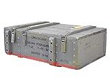 Obstkisten-online Großzügige Munitionskiste aus Holz im Military Style, 82x51x29cm - Militär Truhe Offizierskoffer Aufbewahrungskiste Munitionsbox Militaria