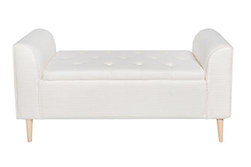 Große Sitztruhe mit Beinen, weiß, 113cm