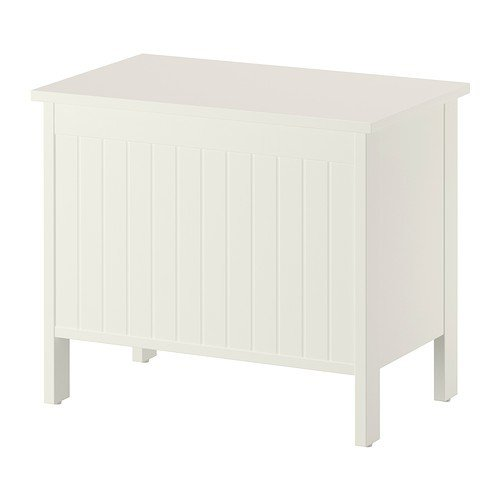 IKEA SILVERÅN Banktruhe, weiß, 55cm