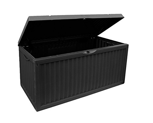 Auflagenbox, schwarz/grau, 350L, 120cm