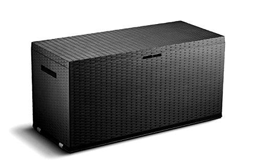 Auflagenbox, schwarz, 380L, 120cm - 2