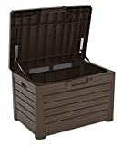 Toomax Kissenbox in Holzoptik, braun, 120L, 73cm