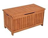Kissenbox mit Deckel aus Eukalyptus Holz, 88cm