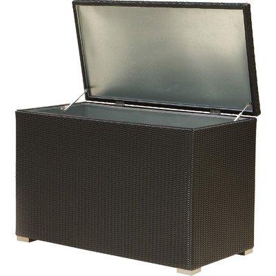XL Kissenbox Auckland aus Aluminium, schwarz, 132cm