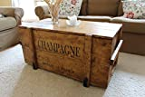 "Uncle Joe´s Holzkiste, Truhentisch ""Champagne"", vintage, shabby chic, 98x55x46cm"