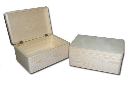 Einfache Holzkiste, unbemalt, 39,5x30x24cm
