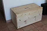 Holztruhe Holzkiste Truhe, 80x40x45cm - 4