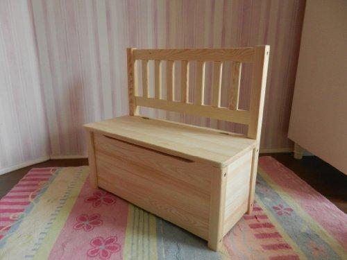 Best of JAM® Kindersitzbank mit Stauraum mit praktischer Deckelbremse, 58x28x53cm