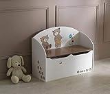 Demeyere Spielzeugtruhe Ted und Lily, beige/chocolate, 69.5×29.5×55.5cm - 3