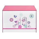 Spielzeugtruhe Worlds Apart Blumen und Vögel, weiß, 60x39,5x39,5cm