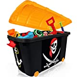 Spielzeugkiste und Kinder-Sitztruhe Zirkus, faltbar, 60x30x35cm