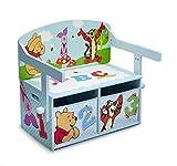 Winnie the Pooh 3in1 Sitzbank & Schreibtisch mit Stauraum, 62x43x57cm