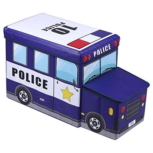 Spielzeugtruhe und Sitzbank Police, 55x26x31cm