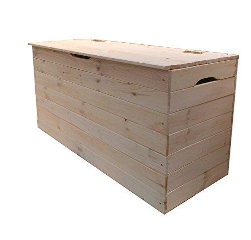 Valdomo Truhe 73Aufbewahrungstruhe Holz, Natur, 70x35x33cm