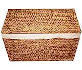 KMH® Charly, 3fach Wäschesortierer aus geflochtener Wasserhyazinthe, 82×42,5×52,5cm - 4