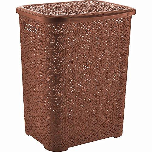 XXL Wäschebox - Wäschetruhe aus Kunststoff, braun, 67L