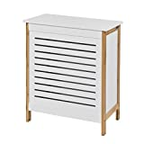 SoBuy® Wäschetruhe weiß+natur, FSS66-WN, 50x30x60cm