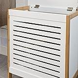 SoBuy® Wäschetruhe weiß+natur, FSS66-WN, 50x30x60cm - 5