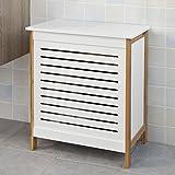 SoBuy® Wäschetruhe weiß+natur, FSS66-WN, 50x30x60cm - 4