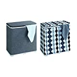 Wenko 62010100 Wäschetruhe Galdino Wäschesammler, Fassungsvermögen 65 L, 49 x 50 x 27 cm, grau -