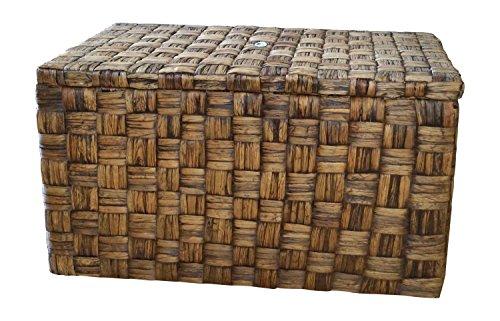 "Casa Mina Wäschetruhe aus Wasserhyazinthe, ""Borneo"", 65x44x35cm"