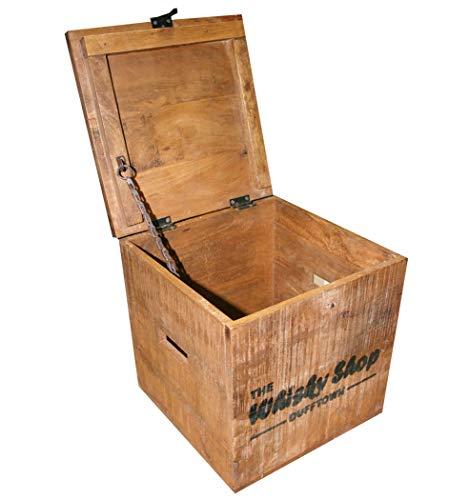 """KMH® 2tlg. Truhenset """"Whisky Shop"""" aus Mangoholz, 40x40x40,5cm und 30x30x30,5cm - 5"""
