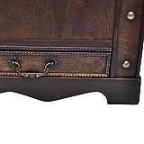 Anself Holztruhe Truhentisch Couchtisch mit 2 Schubladen 90 x 50 x 42 cm -