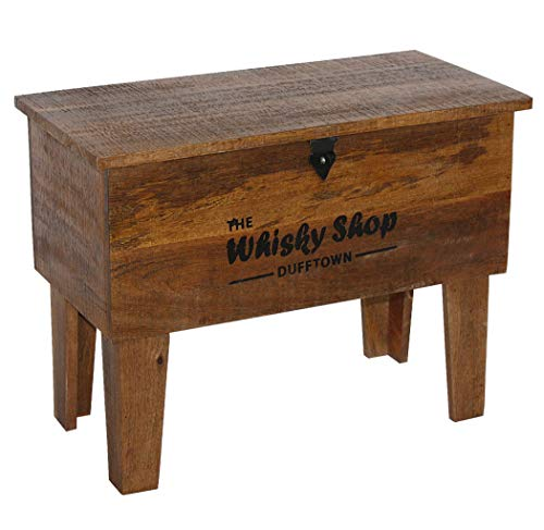 "KMH® Truhentisch aus Mangoholz ""Whisky Shop"", 45x31x59,5cm - 4"