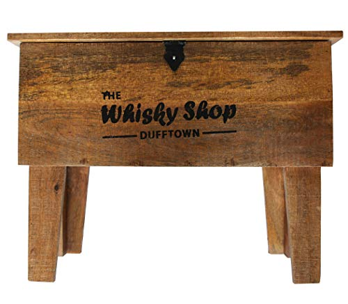 "KMH® Truhentisch aus Mangoholz ""Whisky Shop"", 45x31x59,5cm - 2"