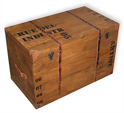 """KMH® Massivholztruhe Truhentisch """"Whisky"""", 79x44x50cm - 2"""