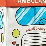 """Relaxdays faltbare Spielzeugtruhe mit Sitzpolster """"Krankenwagen"""", 48x32x32cm - 3"""