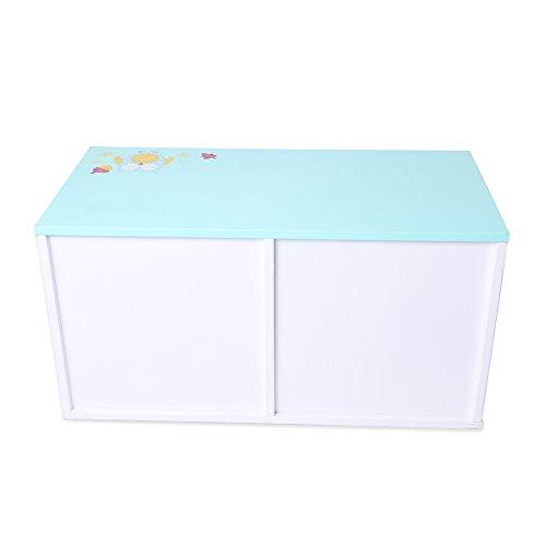 Labebe - Kinder Aufbewahrungsboxen mit Textilschubladen Regalkiste Spielzeugkiste (blau) -
